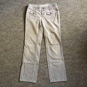 Ann Taylor Loft Khaki Corduroy Pants, size 4